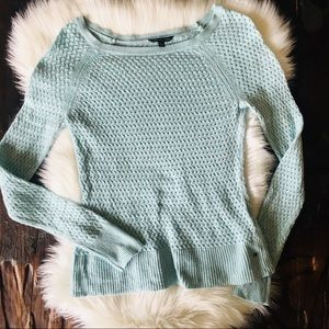 AMERICAN EAGLE AEO Light Blue Boat Neck Sweater S